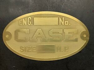 New Case Steam Traction Tractor Engine Authentic Antique Brass Data Tag