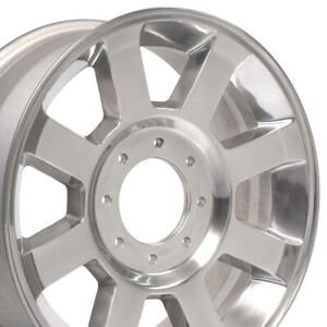 20x8 Polished F 350 Super Duty Style Wheels Set Of 4 Rims Fit F 250 Ford