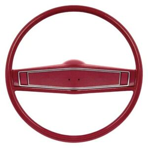 For Chevy Camaro 69 Oer R3494 2 spoke Steering Wheel Kit W Red Grip