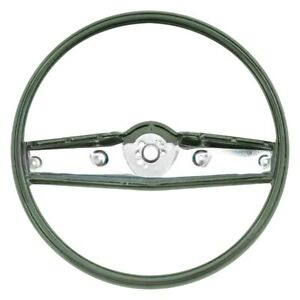 For Chevy Camaro 69 Oer 2 spoke Standard Steering Wheel W Dark Green Grip