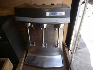 Hamilton Beach Scovill 941 3 speed Triple Head Drink milkshake malt Mixer