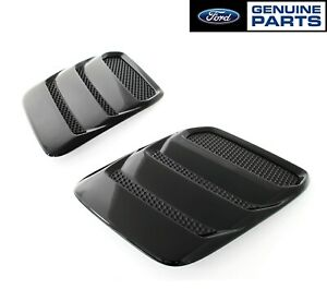 2018 2019 Mustang Genuine Ford Heat Extractors Hood Louvers Pair Gloss Black