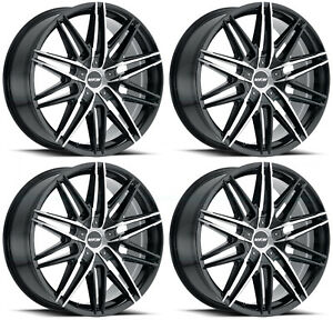 22x9 Mkw M124 5x115 5x120 18 Gloss Black Wheels Rims Set 4