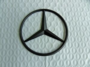 New For Mercedes Benz Flat Black Star Trunk Emblem Badge 90mm Free Us Shipping