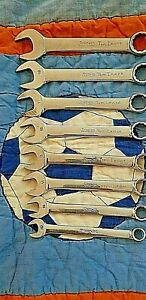 Snap On 8 Pc 12 Point Metric Short Combination Wrench Set 10 19 Mm