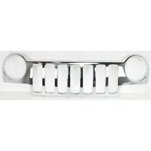 Grille Shell For 2002 2004 Jeep Liberty Chrome Plastic