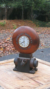 Trenton New Jersey Industrial Antique Wood Foundry Mold Clock Scudder Co
