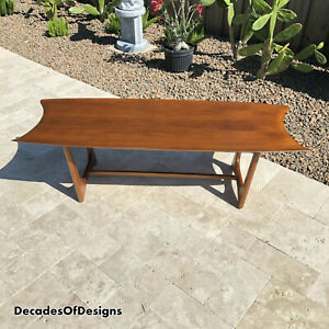 Rare Adrian Pearsall Stingray Coffee Table Stamped Walnut Eames Kagan 1960s