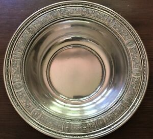 Antique 1920 S International Wedgwood Sterling Silver 10 Bowl 402 Grams
