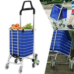 Folding Shopping Cart Laundry Grocery Trolley Dolly Multipurpose Handcart Lot