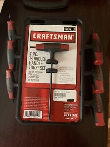 Craftsman 7pc T through Handle Torx Hex Key Set 46410