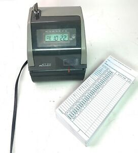 Acroprint Att310 Time Clock Includes Key And Cards Ink Still Works