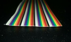 40 Conductor 28awg Color Rainbow Ribbon Wire Cable
