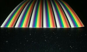 60 Conductor 28awg Color Rainbow Ribbon Wire Cable