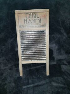 Vtg Dubl Handi Washboard Co Columbus Ohio Wash Board 18 Home Decor Laundry Room