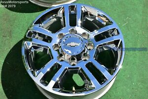 20 Chevy Silverado High Country 2500 3500 Oem Chrome Factory Wheel 22910738