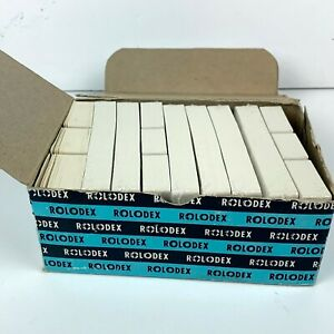 Rolodex 3 X 5 Cards Vintage C35 Lot Of 800 White 8 Sealed Nos Deadstock
