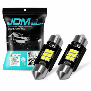 Jdm Astar 2x Ice Blue 31mm Smd De3175 3022 Led Festoon Interior Map Dome Light