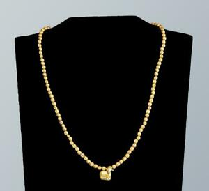 Ancient Greek Gold Necklace With A Gold Lamb Pendant Circa 4th Century Bc