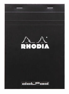 Rhodia Staplebound Notebook 6 X 8 Dot Grid Paper Black
