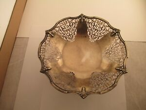 Beautiful Sterling Silver Compote With A Very Nice Design Sterling Silver Mark