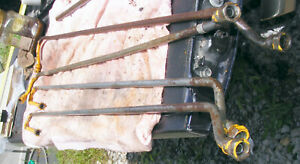 4 Main Hydraulic Tubes Steel Lines To 1950 Case Davis Backhoe 100a