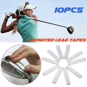 10pcs Lead Tape to Add Swing Weight for Golf Club Tennis Racket Iron Putter Set.