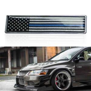 1pc Blue Black Us Flag Emblem Plate Badge For Car Front Rear Side Decorative Hot