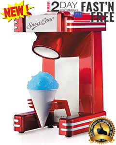 Commercial Electric Snow Cone Machine Maker Retro Single Ice Shaver Crusher