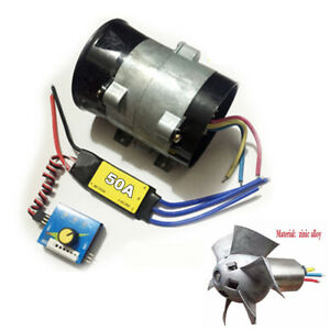 12v Car Electric Turbo Supercharger Kit Air Intake Fan Boost W 50a Brushless Esc