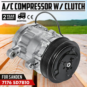 New A c Compressor W clutch Replaces Sanden 7176 Sd7b10