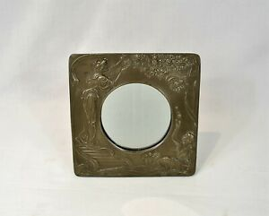 Vintage Art Deco Retro Style Square Dressing Table Mirror Free Standing