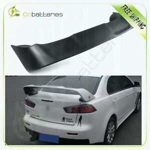 Trunk Spoiler Wing Matte Black Color For 2008 17 Mitsubishi Lancer Evo 10
