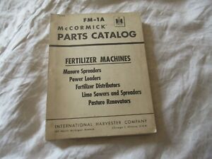 International Harvester Manure Spreader Fertilizer Power Loader Parts Catalog