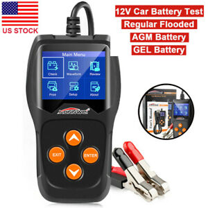 12v Load Batterytester Digital Car Battery Analyzer Multi Language Konnwei Kw600