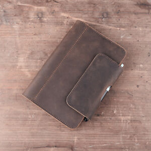 Personalized Genuine Leather Notebook Journal Refillable Writing Phone Gift A6