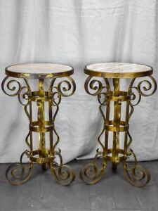 Pair Of Mid Century Marble Spanish Side Tables