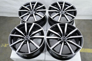 18 Black Wheels Fits Toyota Camry Avalon Matrix Prius Rav4 Civic Eclipse Rims