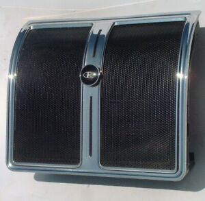 1966 70 Riviera Rear Seat Speaker With Housing And Grill Buick Chrome Excellent
