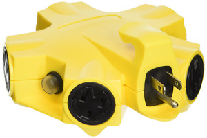 Yellow Jacket 27362 Outdoor 15 amp Power Strip Adapter 5 outlet