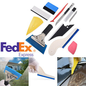10pcs Set Car Window Vinyl Film Stickers Wrapping Tools Tint Tool Kit Us Stock