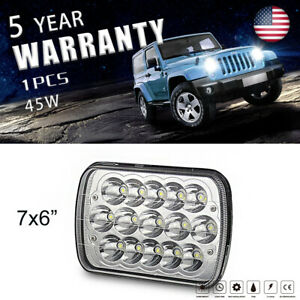 5x7 7x6 Led Headlights Assembly Sealed Beam H4 6000k Fit Chevrolet Truck 7us