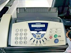 Brother Fax 575 Personal Plain Paper Fax Phone Copy Seller Refurbished