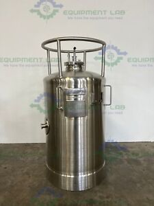 Lot Of 4 Precision 200 Liter 316 Stainless Steel Pressure Vessel 100 Psi 302f