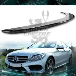 Glossy Real Carbon Fiber Rear Spoiler Wing For 2015 18 Mercedes C Class W205