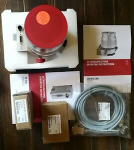 Used Pfeiffer Hipace 300 Turbo Pump With Tc110 And Cooling Venting Kit cables