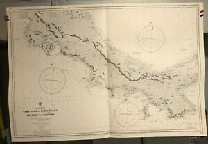 Costa Rica Panama Navigational Chart Hydrographic Map 2145 Central America