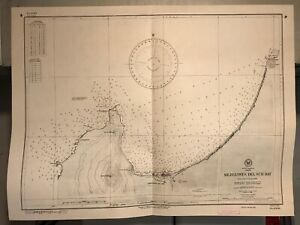 Chile South America Navigational Chart Hydrographic Map 2489 Mejillones