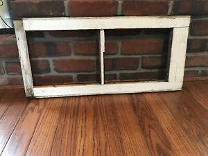 Architectural Salvage 2 Pane Old Window Sash Frame Pinterest White Brown Wedding