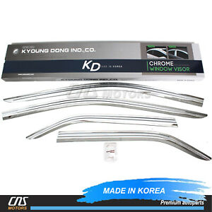 Chrome Window Sun Vent Visor Rain Guards 4pcs For 2012 2014 Toyota Camry